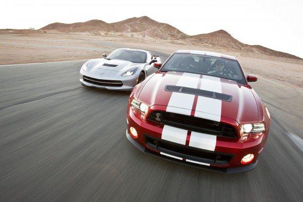C7 Corvette Coupe vs BMW M3 vs Shelby GT500
