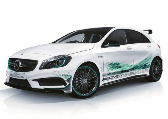 Mercedes A45 AMG Petronas Hijau Editon