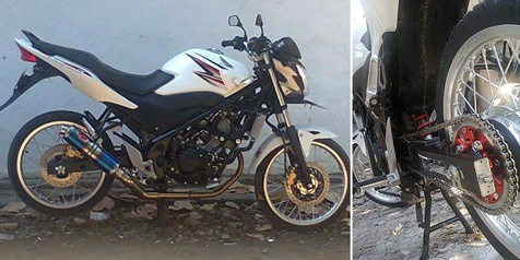 Modifikasi Minimalis Pada Kaki-kaki Honda CB150R Tampil Cukup Menarik