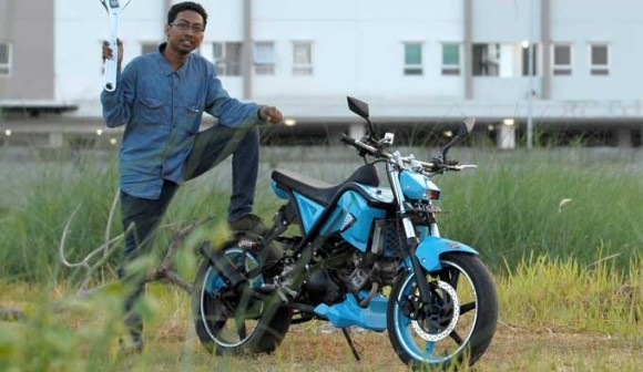 Modifikasi Yamaha Jupiter MX Jadi Street Fighter Tampil Lebih Garang