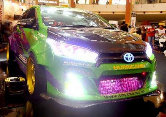 "Modifikasi All New Toyota Yaris G M/T 2014 Seperti Halnya Terong-Terongan ""Terong Project"""