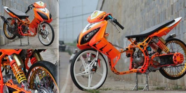 Kesambet Angin Drag Race, Yamaha Nouvo Kembali Menarik Perhatian
