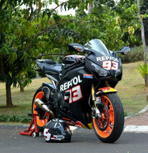 Modifikasi Honda CBR 1000RR, Khusus Untuk Penyemagat Marc Marquez
