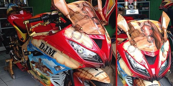 Modifikasi Ninja 250 cc, Berpenampilan Layaknya Koboi