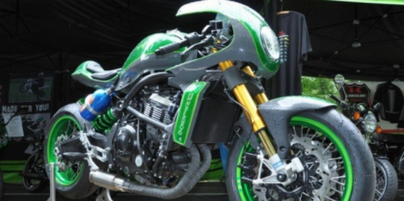 Modifikasi Cafe Racer Kawasaki Vulcan S Suplay Tenaga NOS-breathing