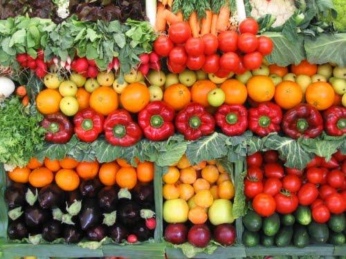 Sayuran. Untuk bahan makanan segar, seperti sayuran,