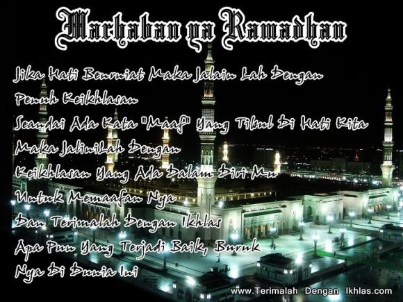 Kata - Kata Mutiara Bulan Suci Ramadhan