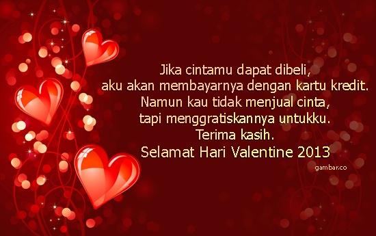 Kata - Kata Ucapan Selamat Valentine's Day