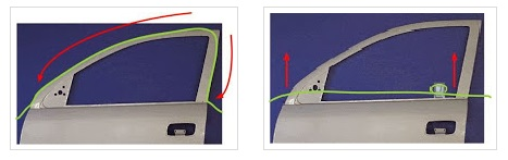 Membuka Pintu Mobil Terkunci dengan Tali