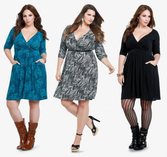 Model Baju Terusan Untuk Wanita Gemuk